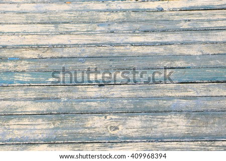 blue wooden texture as nice natural background - stock photo