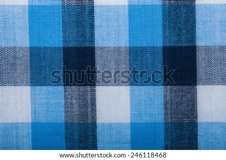 Blue wool fabric texture with cell