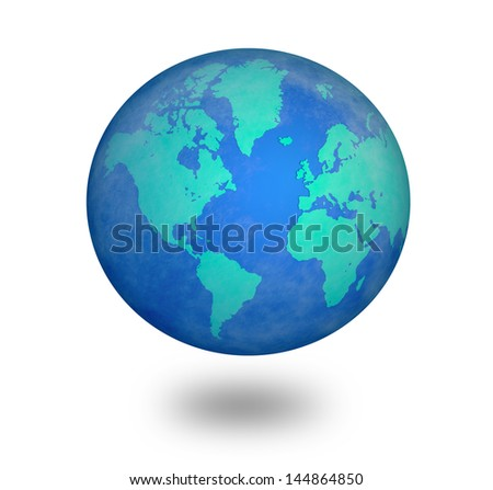 blue world - stock photo