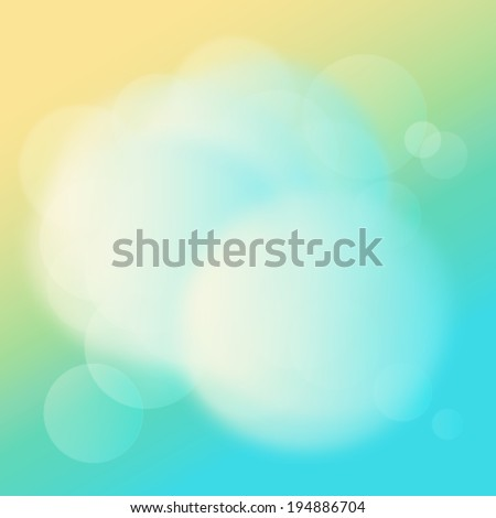 Blue & yellow background - stock photo