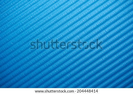blue yoga matt for a abstract background - stock photo