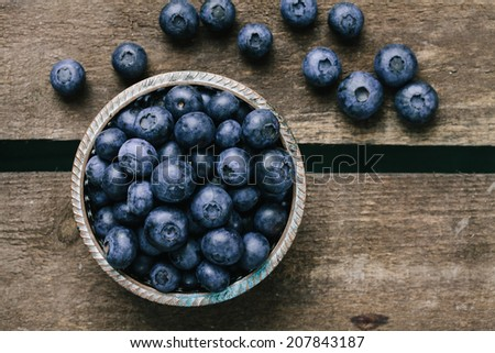 Blueberries in a bowl