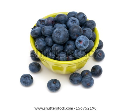 blueberries in a green bowl