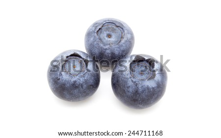 Blueberries, isolated on white background.