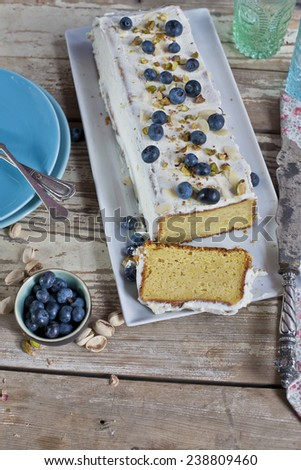 Blueberry Cake for holidays