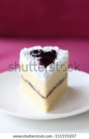 Blueberry cake with Blueberry topping