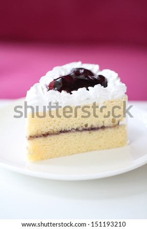 Blueberry cake with Blueberry topping - stock photo