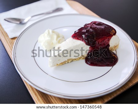 Blueberry Cheese Pie - stock photo