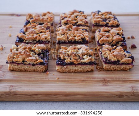 Blueberry-Hazelnut Bars Recipe — Dishmaps
