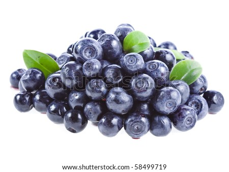 blueberry heap isolated on a white background - stock photo