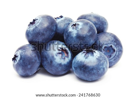 Blueberry isolated on white background - stock photo