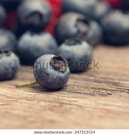 Blueberry macro summer food background - stock photo