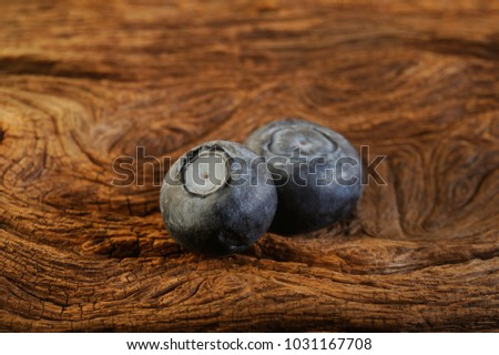 blueberry on wooden background