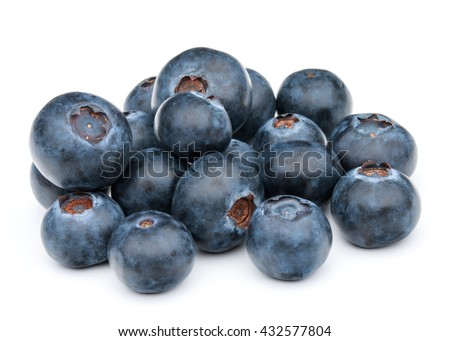 blueberry or bilberry or blackberry or blue whortleberry or huckleberry isolated on white background cutout - stock photo