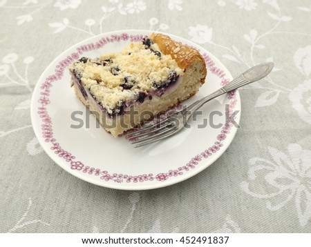 blueberry pie stuffed with cottage cheese and vanilla pudding