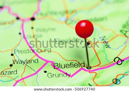 Bluefield Pinned On Map West Virginia Stock Photo Safe to Use