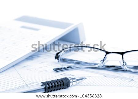 Blueprint - stock photo