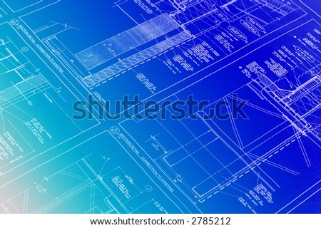 Blueprint - stock photo