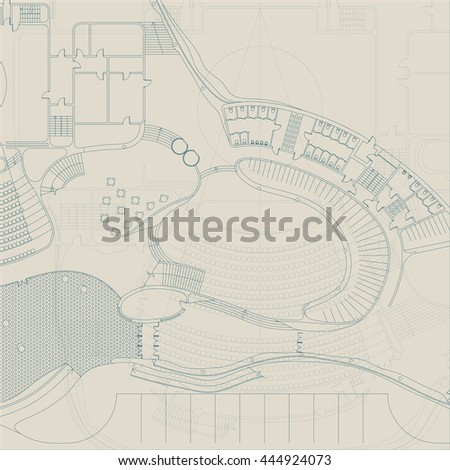 architectural engineering blueprints. Blueprint. Architectural And Engineering Drawing On Gray Background. Raster Version Blueprints