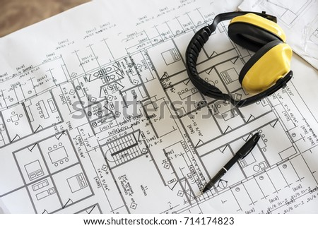 Blueprint drawing design pattern stock photo 714174823 shutterstock blueprint drawing design pattern malvernweather Images