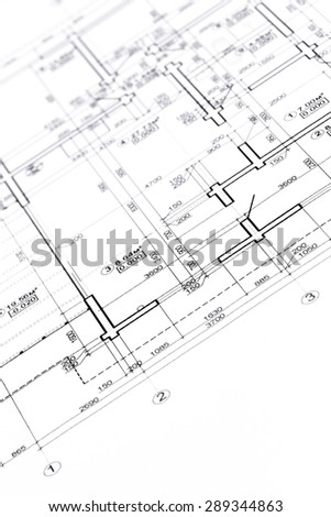 blueprint floor plans, engineering and architecture drawings