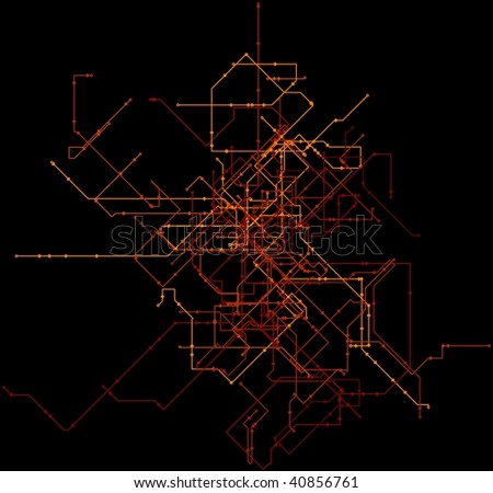 Blueprint of Pipe layout - stock photo