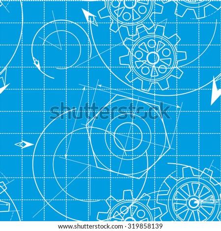 Blueprint pattern gears stock illustration 319858139 shutterstock blueprint pattern with gears malvernweather Choice Image