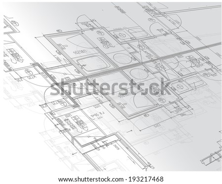 blueprints illustration design over a white background - stock photo