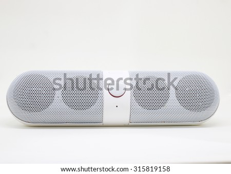 Bluetooth speaker on  white background - stock photo