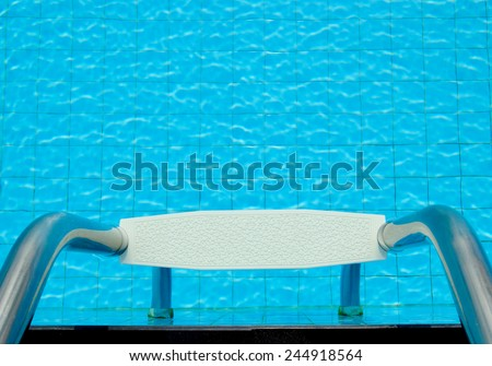 BLUEWATER ,Pool Ladder - stock photo