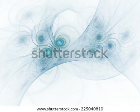 Bluish abstract fractal wallpaper on white background - stock photo