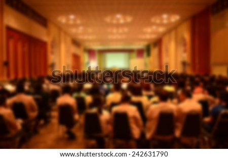 Blur Abstract background  international conference,meeting room for media design - stock photo