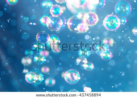 Blur Abstract colorful soap bubbles wallpaper  - stock photo