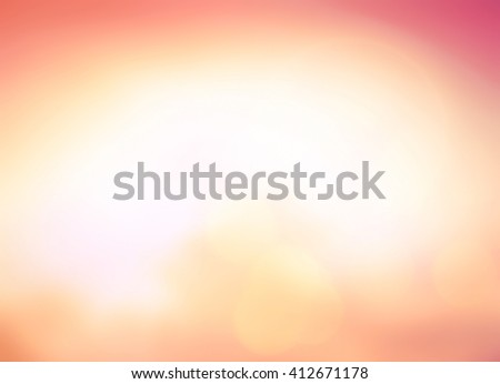 Blur Abstract Texture Trendy Business White Love Yellow Orange Sun Glow Clean Zen Relax Fresh Bless Bright Romantic Night Reef Serene Sea Yoga Calm Joy Paradise Soft Morning Horizon Heaven concept - stock photo