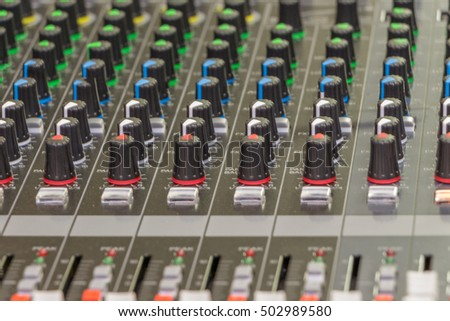 Blur audio mixer mixing board Team Concept background