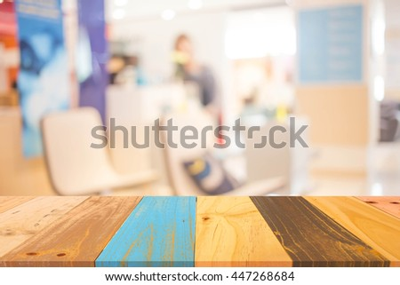 Blur Background in The Office - stock photo