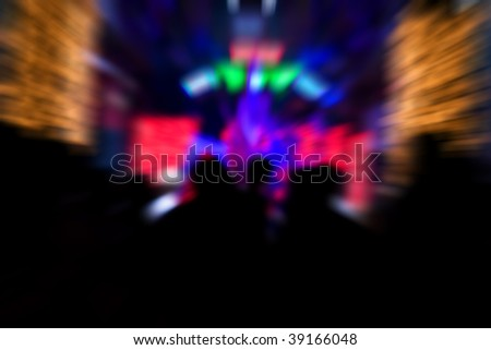 blur background light of night club - stock photo