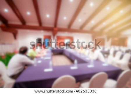 Blur Background of Oral Presentation in Conference hall - stock photo