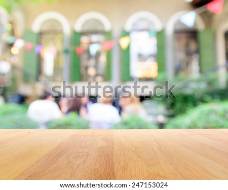 Blur background of party in garden - stock photo