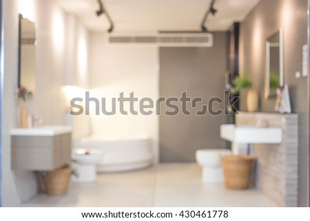 Blur Bathroom Interior of Background, product display template. Bathroom.