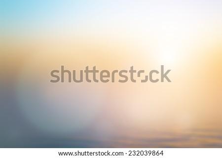 Blur Beach. Abstract Texture Trendy Business 2017 White Yellow Orange Color Sun Glow Clean Zen Relax Fresh Nature Bless Bright Beach Bright Cloud Water River Deep Sand Travel Blurry Heaven Sunshine - stock photo