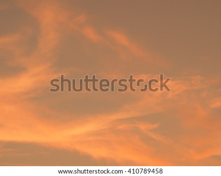 Blur beautiful orange sky. Sunset sunrise in background. Abstract orange sky. Dramatic golden sky at the sunset background. - stock photo