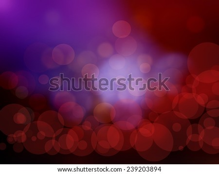 blur blue and red background with an illuminated circles. - stock photo