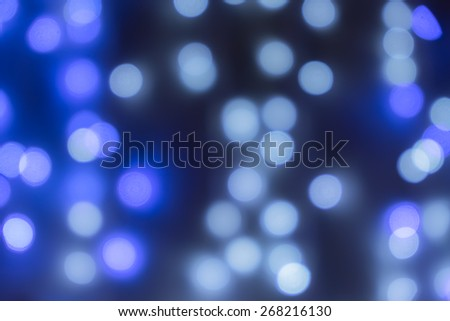 blur blue and white bokeh light background