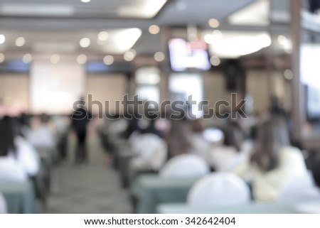 blur blurred business people in meeting room for marketing finance annual conference background - stock photo