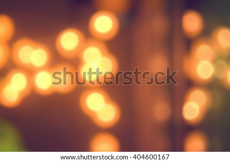Blur bokeh light abstract background. Retro color style.
