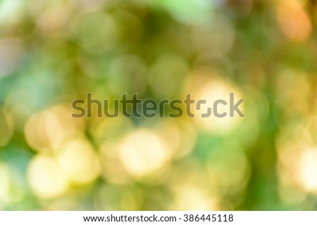 Blur bokeh nature background. - stock photo