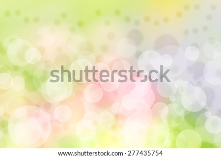 Blur bokeh pattern background by the light and the sun