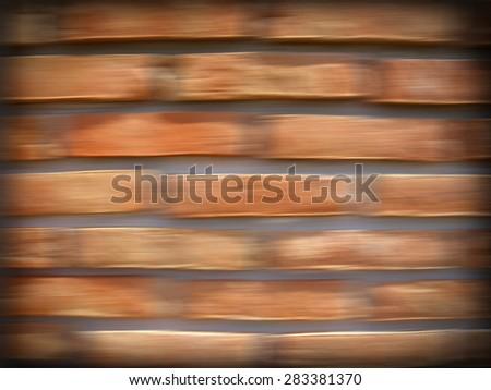 blur brick wall - stock photo