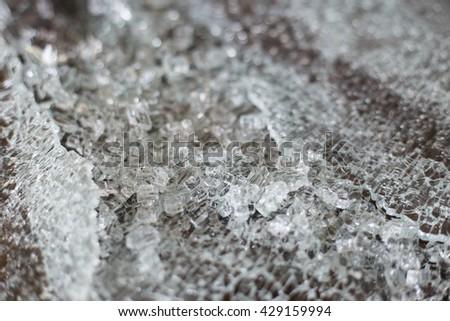 blur broken glass background - stock photo